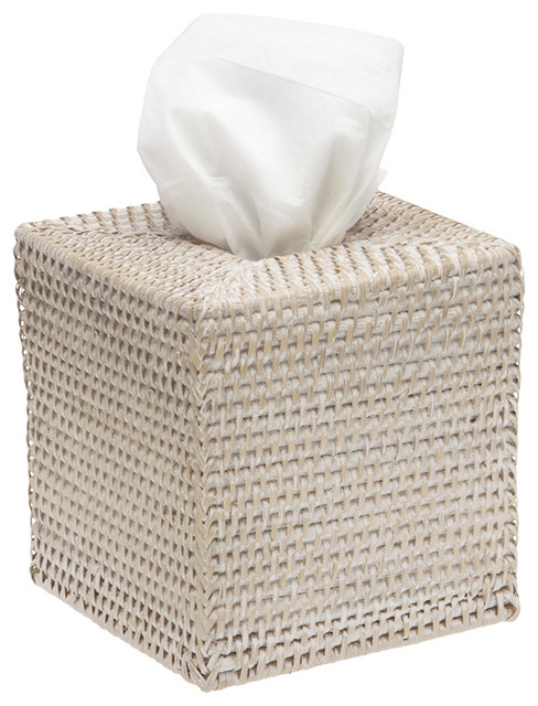 Square Rattan Tissue Box Cover Tropical Bathroom Accessories Other By Kouboo