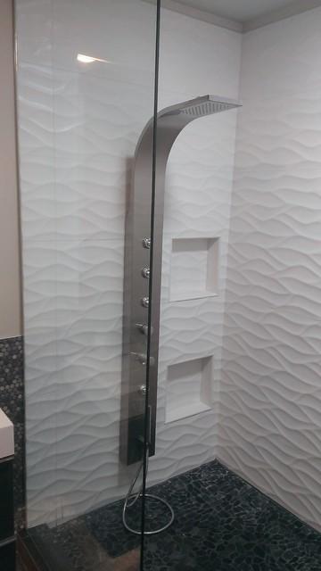 Master Bathroom Large Wave Tile