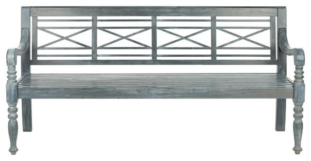 Donovan Outdoor Bench, Cloud Gray.