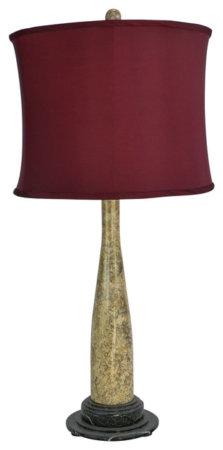 "32"" Tall Marble Table Lamp ""Artica"", Fossil"