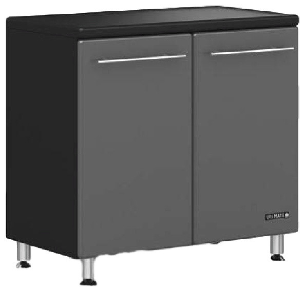 Ulti-Mate Garage 2-Door Base Cabinet Charcoal Gray /black.