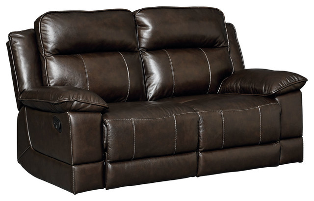 Sequoia Manual Motion Loveseat, Leather.