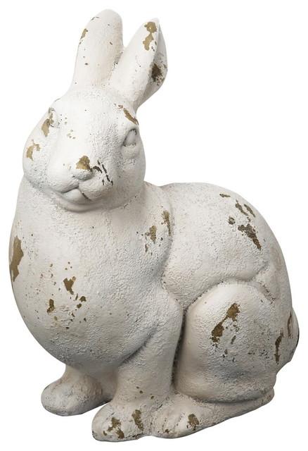 magnesia rabbit statue - farmhouse - garden statues and yard art
