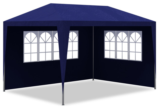 Vidaxl 10&x27;x13&x27; Blue Party Tent With 4 Walls, Blue.