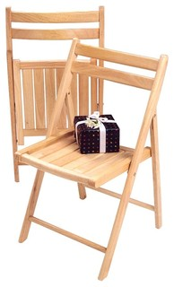 Winsome Wood Set Of 4 Folding Chairs In Beech