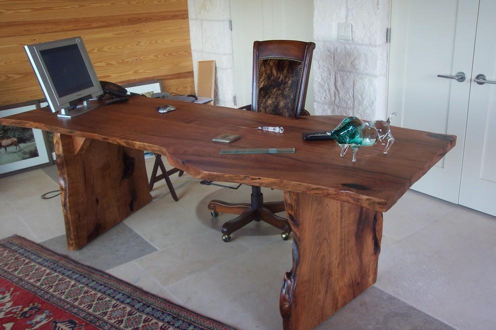 Mesquite live edge desk
