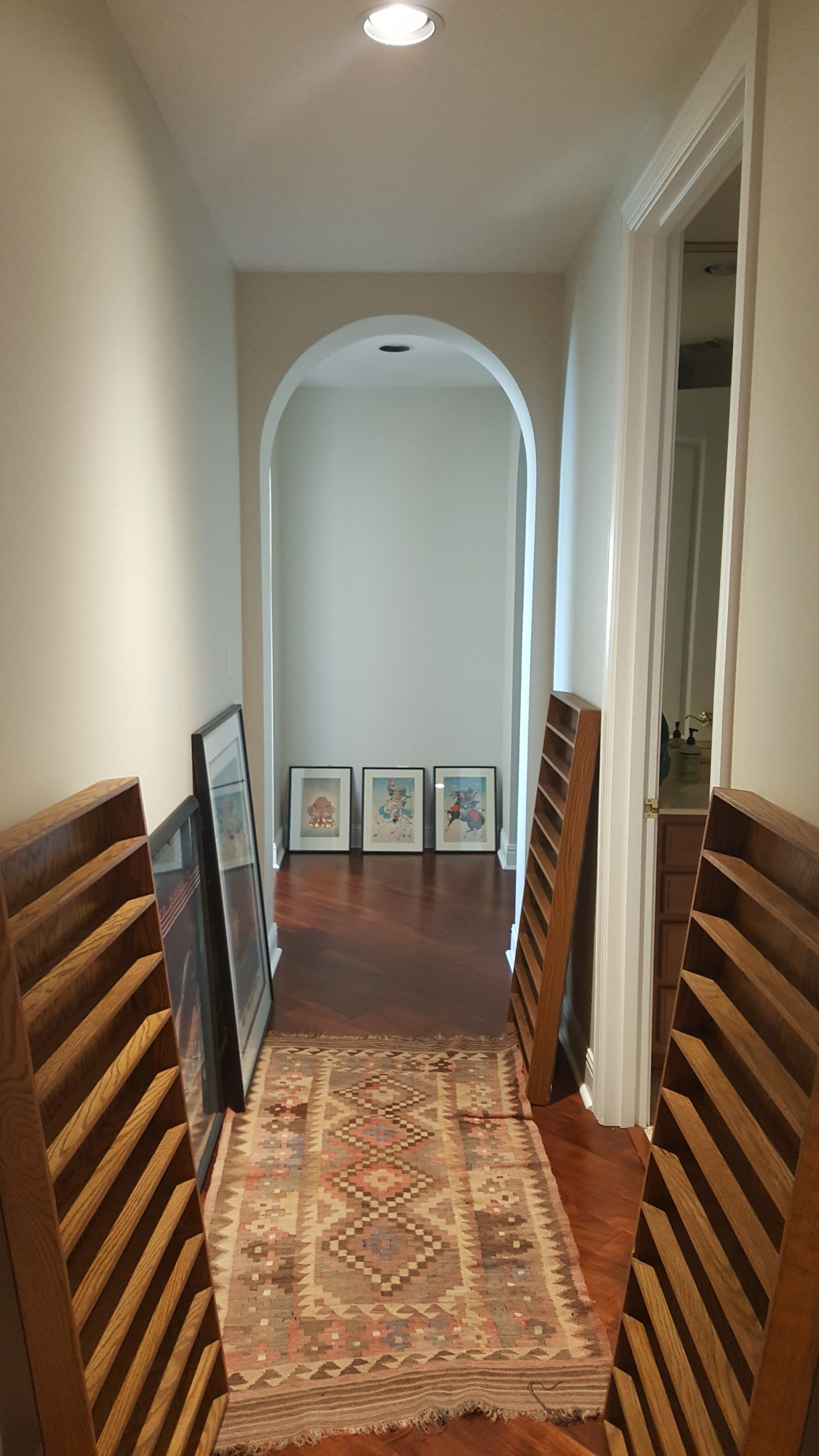 Original hallway with arch accent