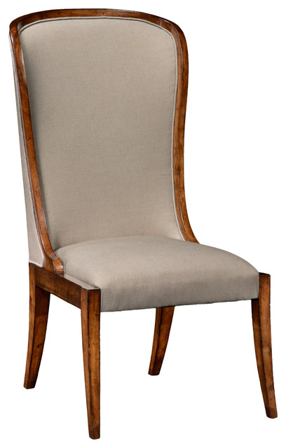 Jonathan Charles High Curved Back Upholstered Dining Side