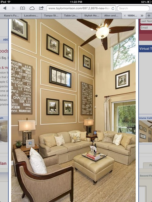 Two Story Family Room Houzz. Id Love To Open Up My Half Walls Now ...