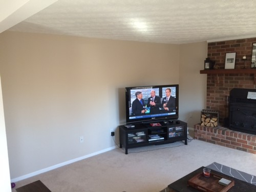 Living Room With Fireplace And Tv On Different Walls living room & family room into one room, how to arrange furniture?