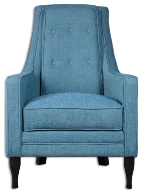 Cool Uttermost Katana Armchair Peacock Blue Unemploymentrelief Wooden Chair Designs For Living Room Unemploymentrelieforg