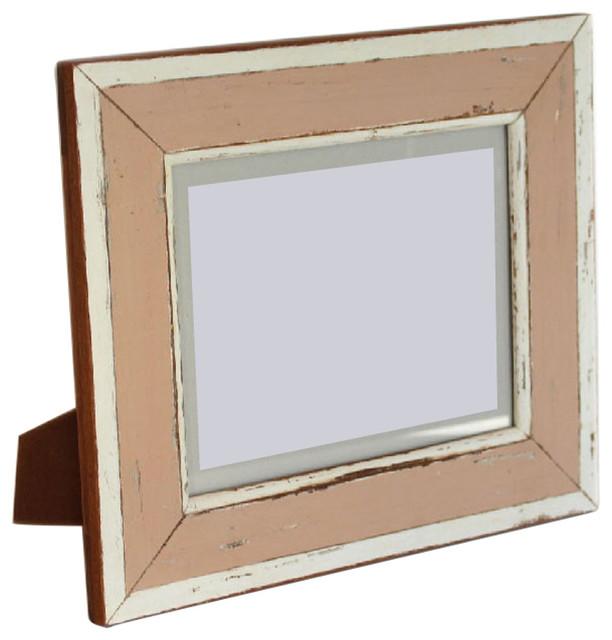 Frame Rustic Peach/White, 8x10 14x12\