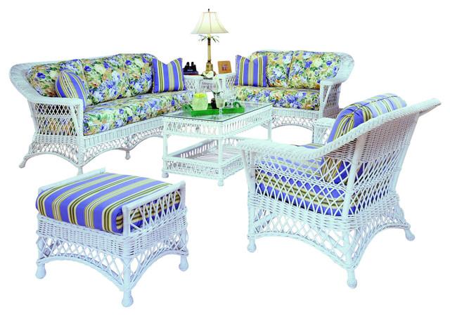 Wicker Living Room Set, White Wicker Living Room Furniture