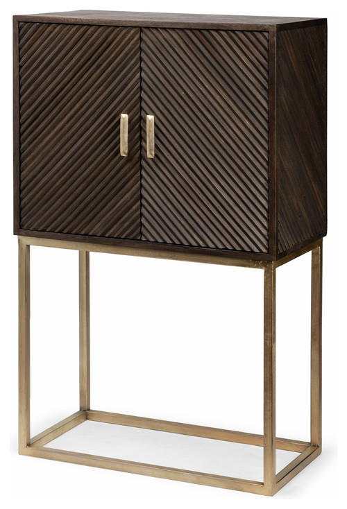 Mercana Mango Wood Cabinet With Brown Finish 67745