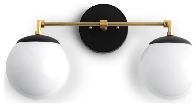 Neckless Globe Vanity Light Modern, Bathroom Vanity Light Globes