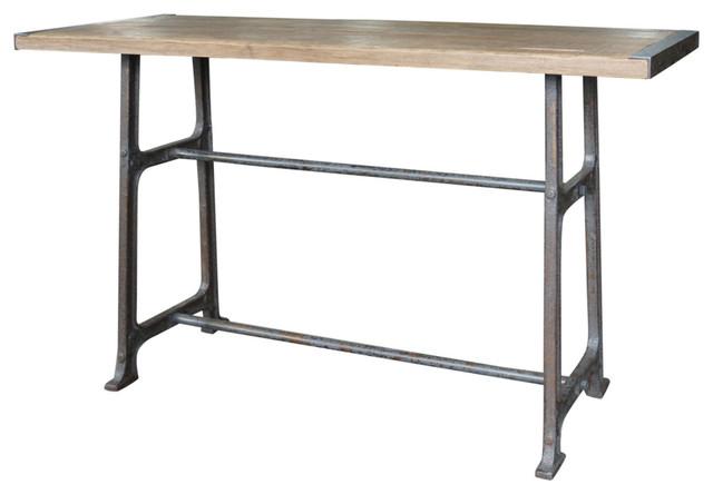 Oliver Bleached Oak Pub Table.