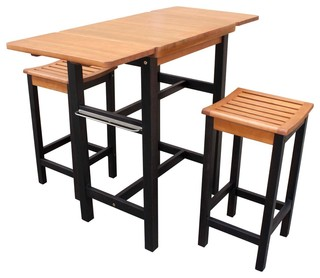 northbeam - Kitchen Island Table Two Stool Set & Reviews | Houzz