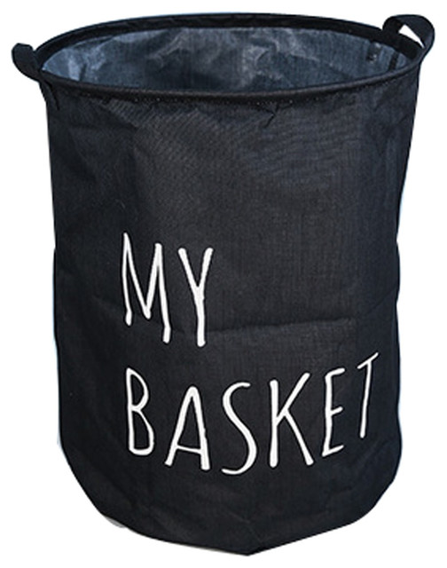 Folding Laundry Bags Washing Bag Black.