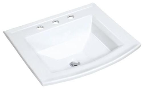 Miseno Mld-2320-3 Vitreous China Lavatory Sink Fixture, White.