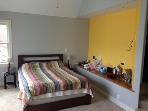 . Odd bedroom nook ledge ideas