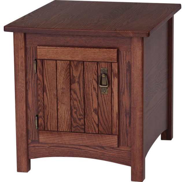 Solid Oak Mission Style End Table Autumn