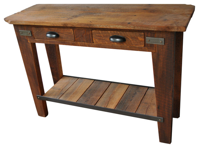 Tall Side Table With 2 Drawers Rustic Side Tables And End