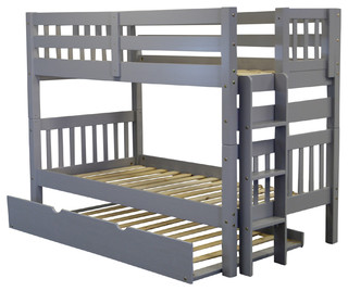 bedz king bunk beds gray trundle 23406