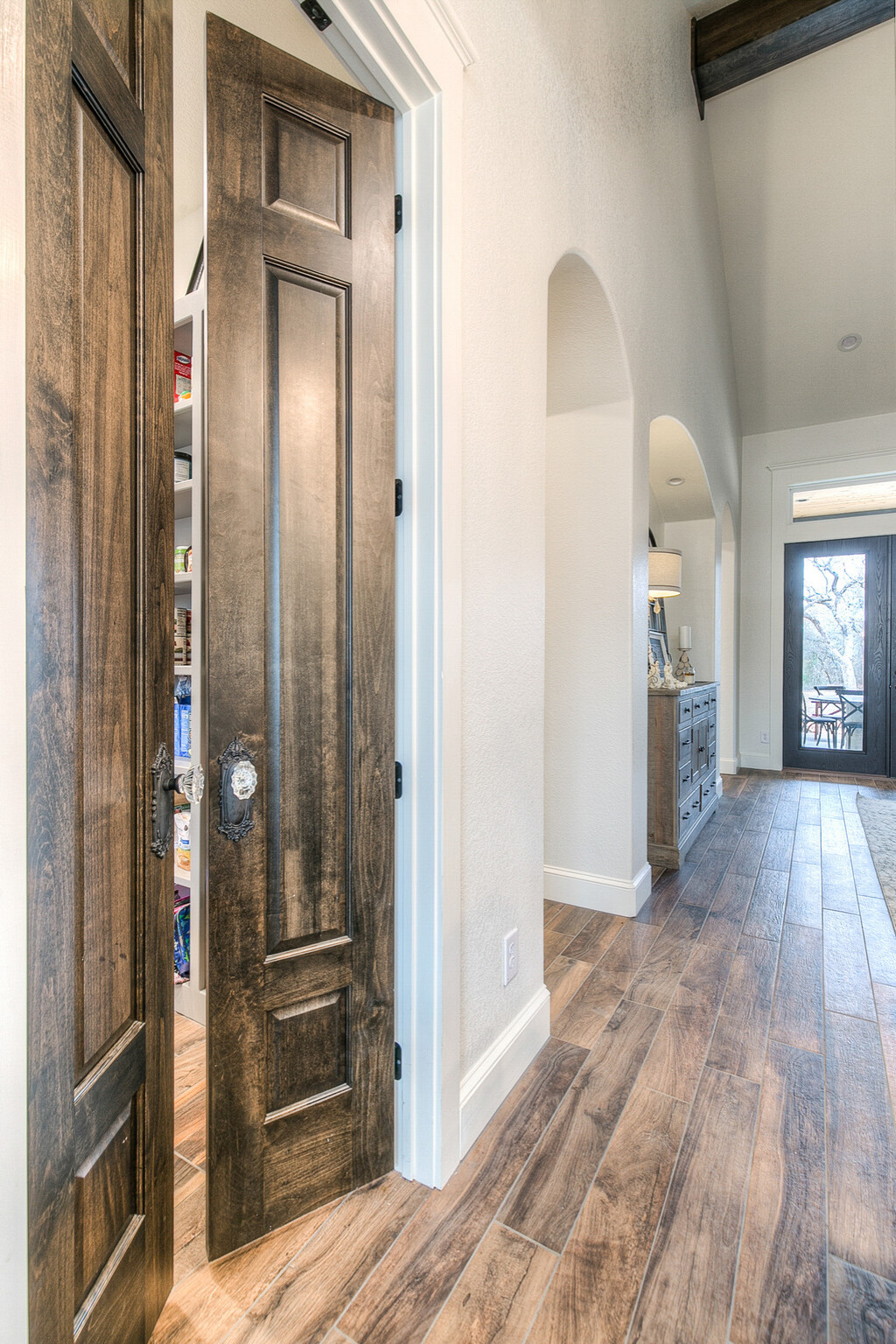 Transitional French Country - pantry doors