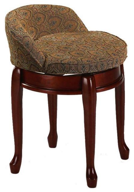 low vanity stool  Low Back Swivel Vanity Stool - Transitional - Vanity Stools And ...