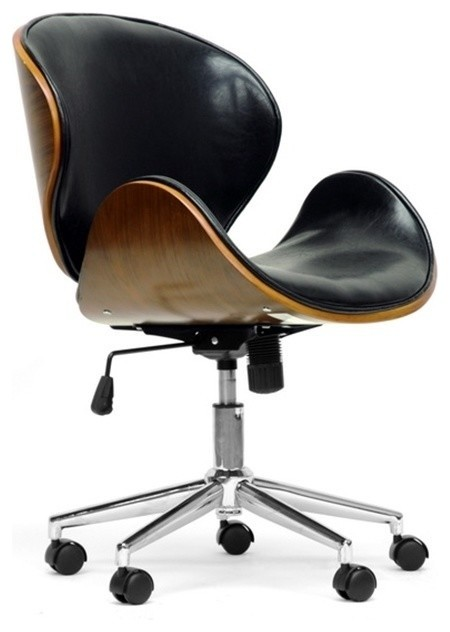 bruce walnut office chair - contemporary - office chairs -