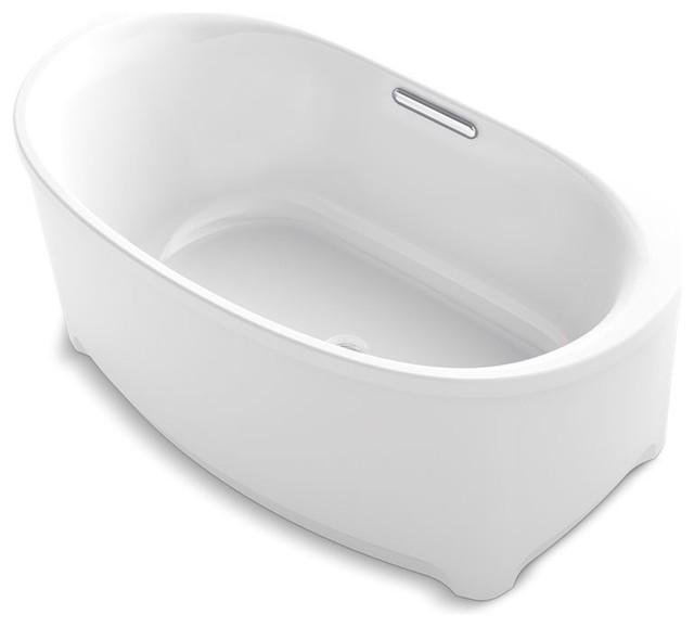 "60""x36"" Underscore Oval Freestanding Bath, White."
