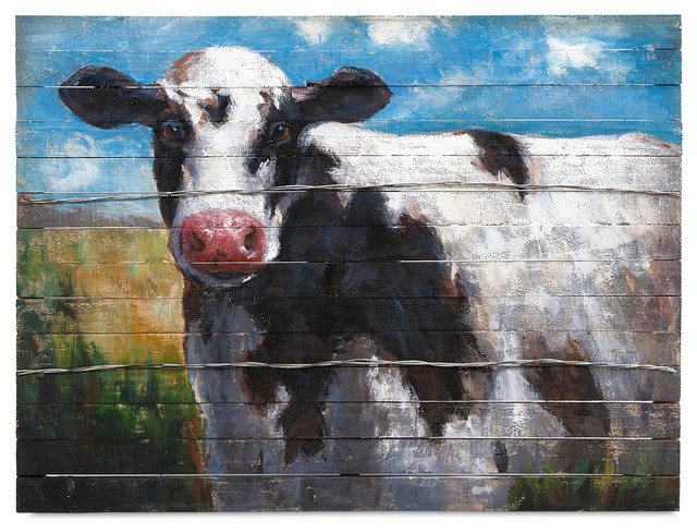 """""""The Cow's Stare"""" Oil Painting, 40""""x30"""""""