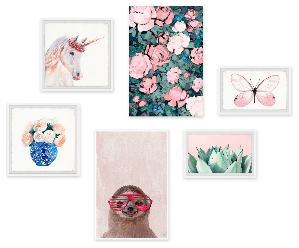 Pink Ascension Hexaptych Contemporary Prints And Posters By Marmont Hill
