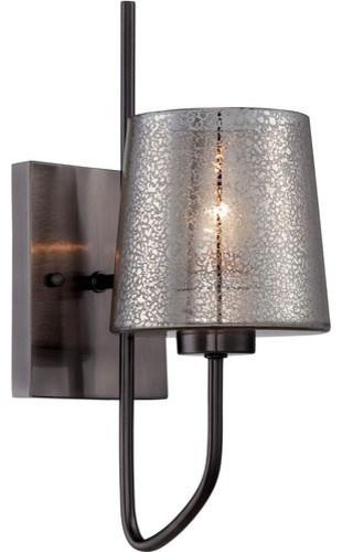 varaluz varaluz meridian wall lamp blackened chrome wall sconces