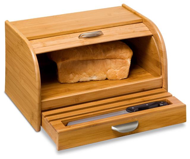 Honey-Can-Do International Bamboo Bread Box - Craftsman - Bread ...