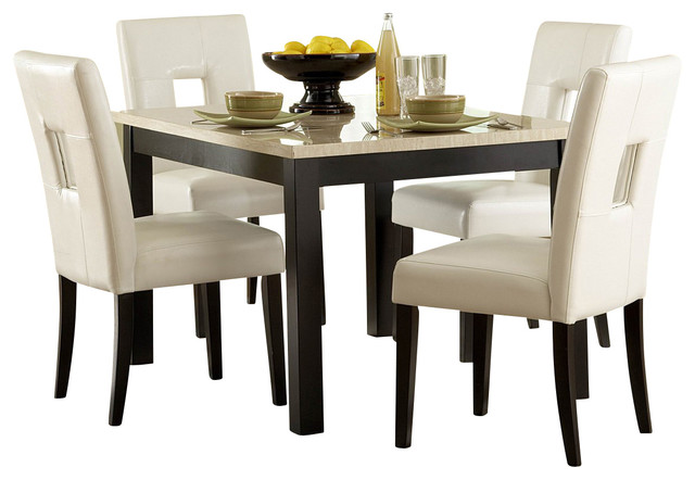 inc homelegance archstone 48 inch dining table with faux marble top dining