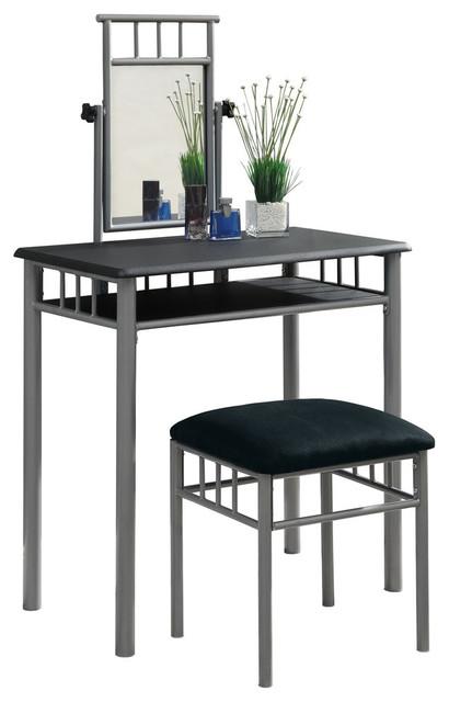 2-Piece Vanity Set, Black/silver
