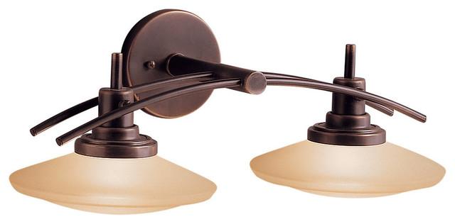 Shop Kichler Lighting 4 Light Bayley Olde Bronze Bathroom: Kichler 6162NI Bath 2Lt Halogen