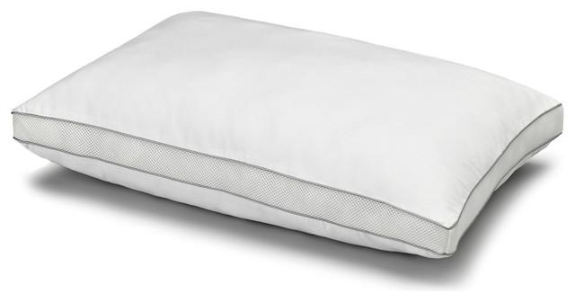 300TC Cotton Mesh Gusset Gel Fiber Memory Pillow, Queen