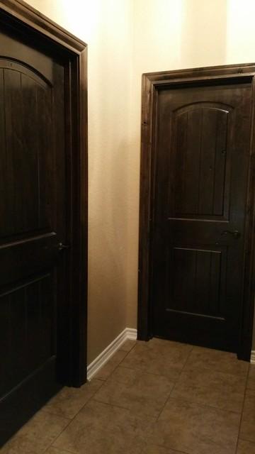 Stained knotty alder doors - Knotty alder interior doors sale ...