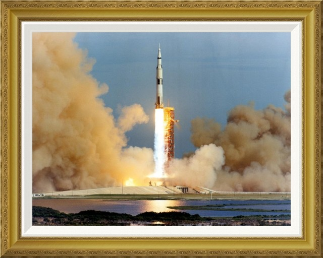 Launch Of The Apollo 15 Mission To The Moon 1971 By Nasa 22x18 Transitional Prints And Posters By Global Gallery