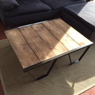Fabrication table basse style palette sncf - Table en planche de coffrage ...