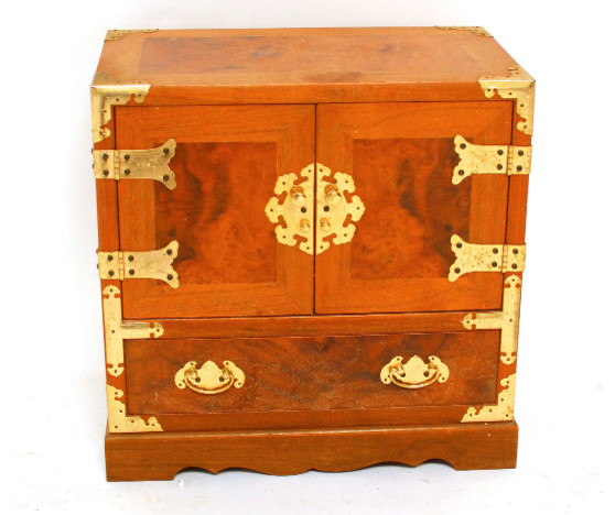 Asian Wooden Jewelry Box with Brass Hardware asian-storage-bins-and-boxes  sc 1 st  Houzz & Asian Wooden Jewelry Box with Brass Hardware Aboutintivar.Com