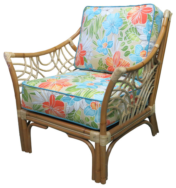 Charmant Bali Arm Chair In Natural, Clemens Opal Fabric