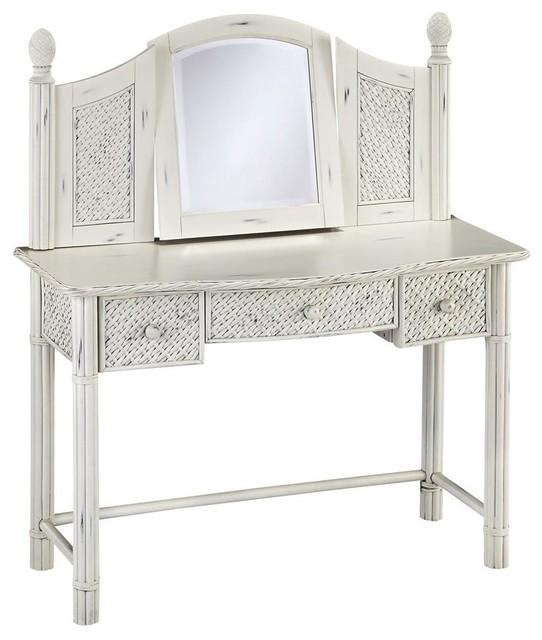 Vanity Table With Mirror Beach Style Bedroom And Makeup Vanities