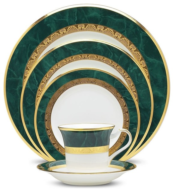 Noritake Fitzgerald 5 Piece Place Setting Traditional Dinnerware Sets By Unique Gifts