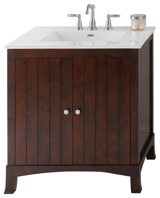 Ronbow Corp Ronbow Hampton Solid Wood 30 Vanity Set With
