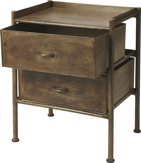 Cameron Industrial Chic Side Table   Industrial Chic