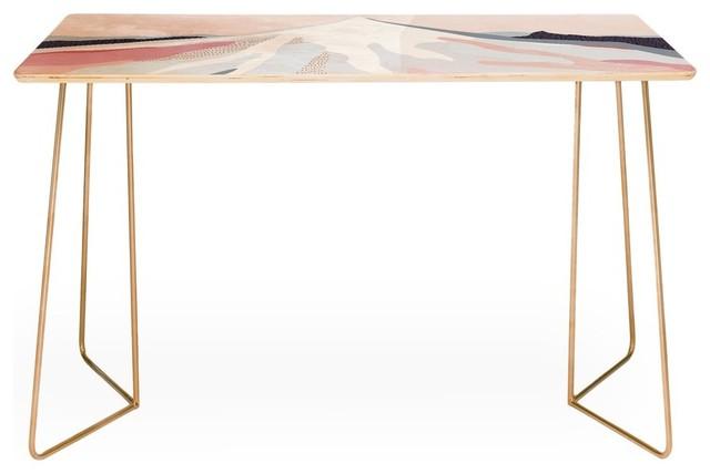 Deny Designs Iveta Abolina Off The Grid Purple Desk.