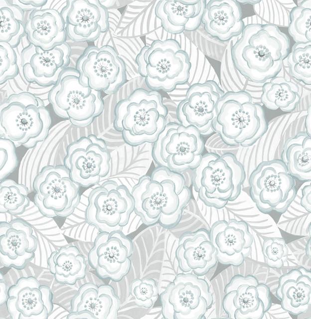 Oopsie Daisy Grey Peel & Stick Wallpaper